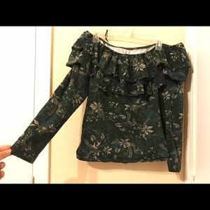 Cute Off The Shoulder Floral H&M Long Sleeve